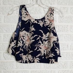 Astr the Label Floral Crop Top